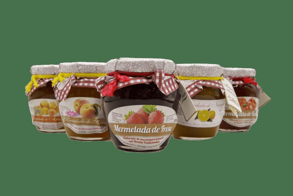 mermelada de diferentes sabores en el sabor de patty