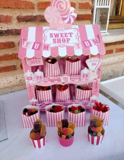 tienda de dulces hecha por la pasterleria patty de valladolid