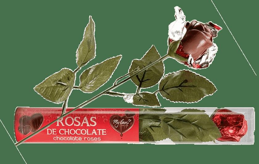 rosas de chocolate en la cofiteria de valladolid patty