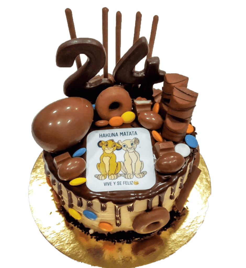 tarta de chocolate personalizada rey leon