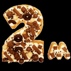 tarta personalizada de numeros y letras en valladolid