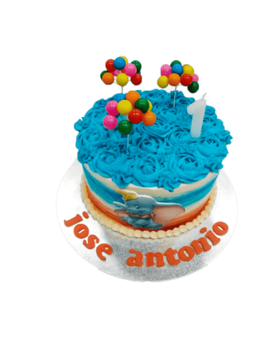 tarta personalizada de dumbo con nombre